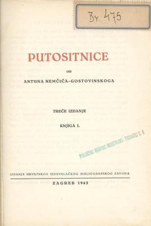 Antun Nemčić-Gostovinski: PUTOSITNICE