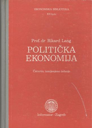 Rikard Lang: POLITIČKA EKONOMIJA