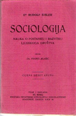 Rudolf Eisler: SOCIOLOGIJA