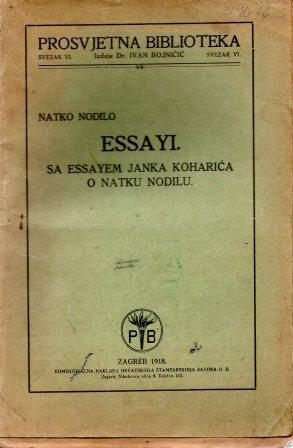 Natko Nodilo: ESSAYI
