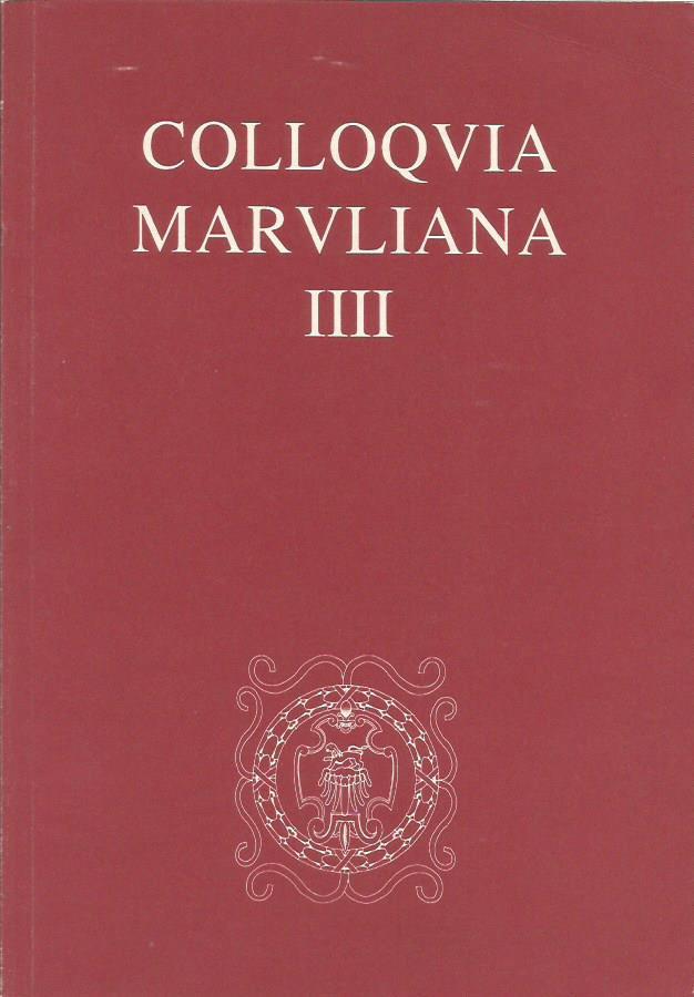 COLLOQVIA MARVLIANA IIII