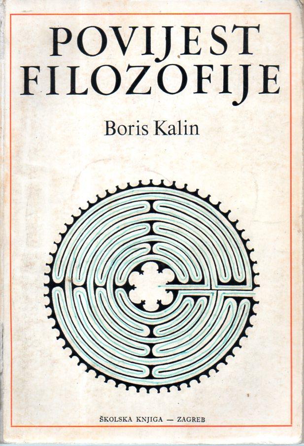Boris Kalin: POVIJEST FILOZOFIJE