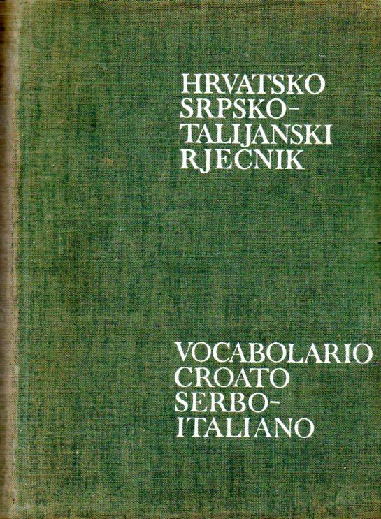Mirko Deanović: HRVATSKOSRPSKO-TALIJANSKI RJEČNIK