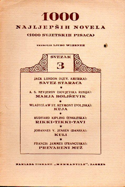 1000 NAJLJEPŠIH NOVELA - SVEZAK 3.