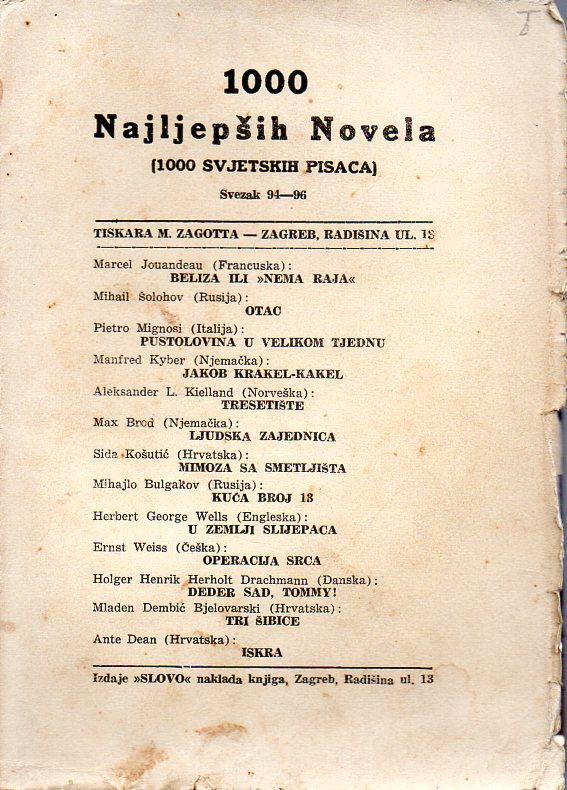 1000 NAJLJEPŠIH NOVELA - SVEZAK 94.-96.